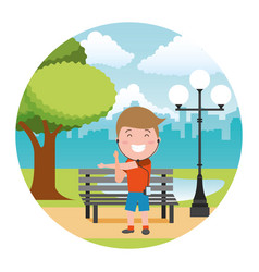 People with tech on outdoors vector