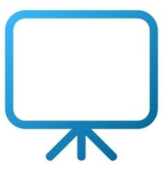 Presentation Screen Gradient Icon vector