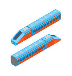railway passenger train isometric view vector image
