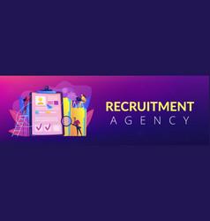 Recruitment agency concept banner header vector