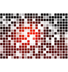 Red brown black occasional opacity mosaic over vector