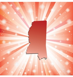 Red Mississippi vector image