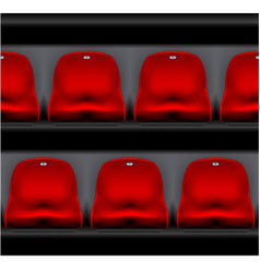 Row of stadium seating - sport arena plastic chair vector