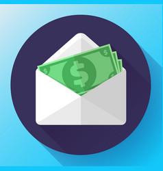 salary in envelope increase money payroll vector image