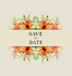 save date for personal holiday wedding vector image