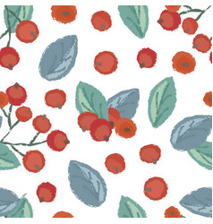 Seamless pattern of cranberry vector
