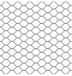 seamless pattern thin wavy lines mesh texture vector image