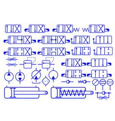 set of hydraulic symbols vector image
