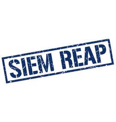 siem reap blue square stamp vector image