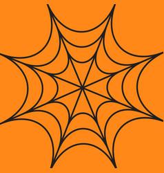 Spider round web cobweb black decoration element vector