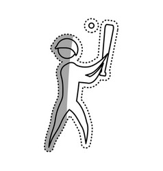 sport game abstract man silhouette vector image