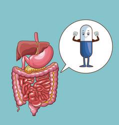 stomach ache cartoons vector image