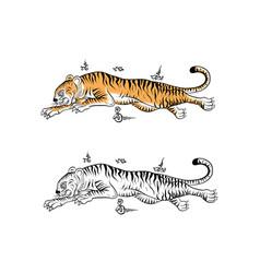 Thai tradition tattoo vector