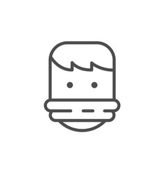 Tied hostage line outline icon vector