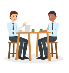 two business guy talking and discuss vector image