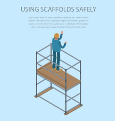 Using scaffolds safely concept background vector