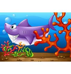 A big fish under the sea vector image