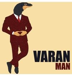 Cartoon character varan vector image vector image