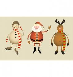 christmas gang vector image