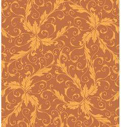 Classic foliage swirl seamless pattern vector image vector image