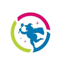 Halloween Witch emblem Cartoon vector image