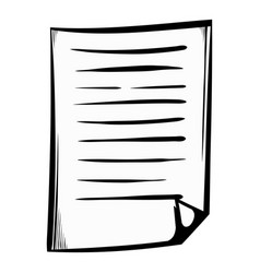 lined paper icon cartoon vector image