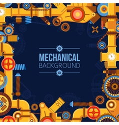 Machinery parts background vector