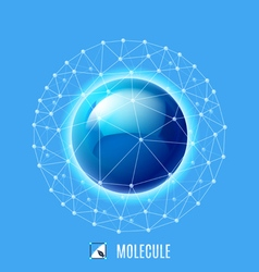 Molecular structure vector image vector image