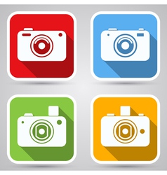 Photo camera icons collection vector image