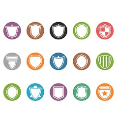 shield icon buttons set vector image vector image