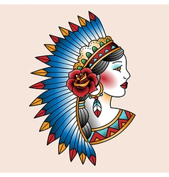 tattoo indian vector image