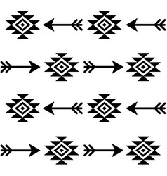 aztec seamless pattern with arrows indian vector image