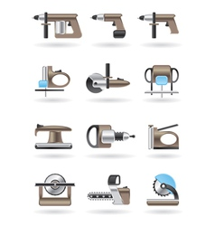 Building and furniture power tools vector image