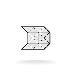 D letter logo templateConstruction framework vector image