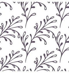 Hand drawn floral seamless pattern Web doodle vector image vector image