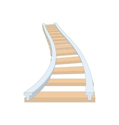 Railroad icon in cartoon style vector image