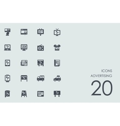Set of advertising icons vector image vector image