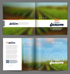 Template booklet design - Wine and winemaking vector image