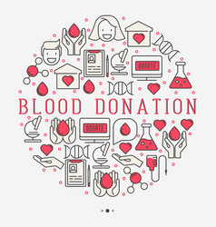 blood donation concept in circle for web page vector image