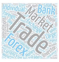 Forex For The Future text background wordcloud vector image vector image