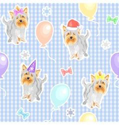 Funny dogs wallpaper vector
