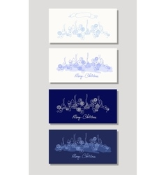 Greeting cards with Christmas and New Year vector image vector image