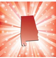 Red Alabama vector image