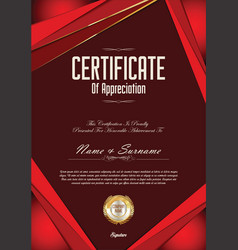 modern certificate or diploma template vector image