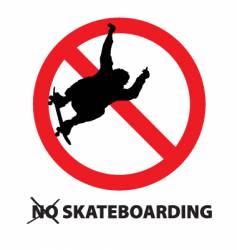 no skateboarding vector image