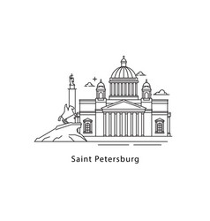 saint petersburg logo isolated on white background vector image vector image
