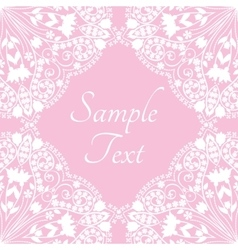 Template with abstract floral background vector