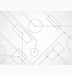 abstract background of engineering drawing vector image