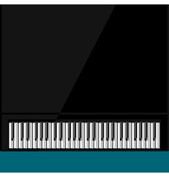 Abstract background with grand piano vector image