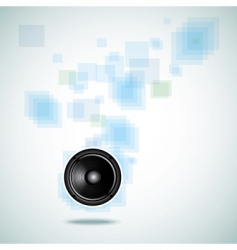 abstract background with speaker vector image vector image